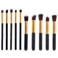 10pcs Makeup Brush Set Cosmetic Foundation Blending Pencil Blush Kabuki Tools