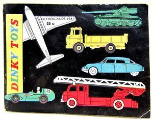 scarce 1961 Netherlands DINKY Diecast Toys CATALOG