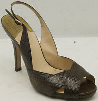 Cole Haan Air Women's Brown Embossed Leather Sandals Sz 9 M
