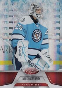 MARC ANDRE FLEURY NO:67 MIRROR RED 098/199 in PANINI CERTIFIED 2010-11    a