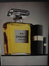 1982 Chanel No. 5 Perfume Large Bottle Vintage Print Ad 12872