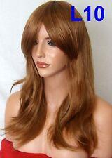 AUBURN GINGER Curly Layered Full Wig Ladies Fashion Fancy dress wigs #4/27/30