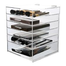 Beautify Acrylic Extra Large Make Up Organiser 6 Tier Clear Cosmetic Drawer Case