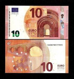 Spain European Union 10 Euros New 2014 (VA) Mario Draghi Unc Currency Money Note