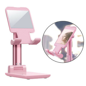 Adjustable Cell Phone Stand Holder Desk Dock Mount For iPad iPhone Kindle Tablet