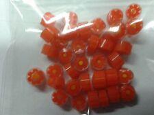 10 grammi murrine in foto di murano glass millefiori arancio  misura 6-7 mm