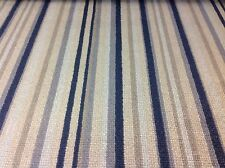 Jane Churchill Velvet Multi Stripe Upholstery Fabric- Cato/Blue 1.5yd (J732F-01)