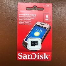 New Sandisk Micro SD 8GB SDHC Memory Card Mobile Phone Tablet Camera 8  Class 4