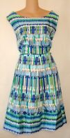 NWT! DRESSBARN PLUS TURQUOISE BLUE GREEN PRINT DRESS SIZE 22 2X  BN
