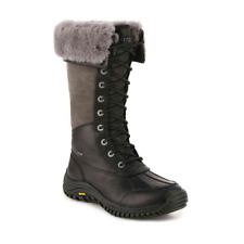 Ugg Adirondack Tall Black Gray Winter Snow Boots Womens Size 8.5