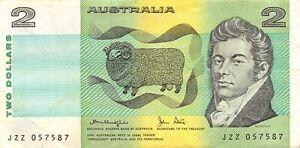 Australia  $2  ND.  ND. 1979  P 43c  Series  JZZ  Circulated Banknote CGM
