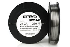TEMCo Kanthal A1 wire 22 Gauge 250 Ft (250 ft) Resistance AWG A-1 ga