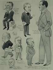 St Stephen's Club London H F Crowther Smith Caricatures 1922 Page Print 6476