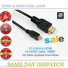 Micro HDMI to HDMI Cable 1080P for Tablet Ultrabook Smart Phone