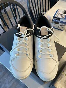 Ecco Mens Street Retro Hydromax Golf Shoe Spikeless EU45 (US 10.5-11)- White