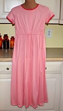 Vintage 1960s Lounge Gown Robe Vanity Fair Soft Nylon  Pink