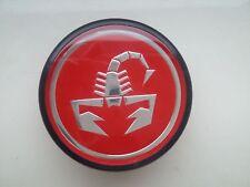 New GENUINE Fiat 500 Abarth Alloy Wheel RED 50mm Centre Cap