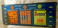 """Vintage Casino Slot Machine Glass Panel Payout Panel Great Color Bar 20"""" x 8"""""""