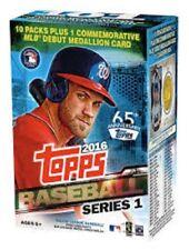 2016 Topps SERIES 1 Baseball  BLASTER BOX Factory Sealed 10 Packs + Medallion