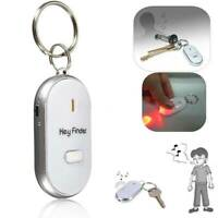 Whistle Lost Key Finder Flashing Beeping Locator Remote chain LED Sonic torch