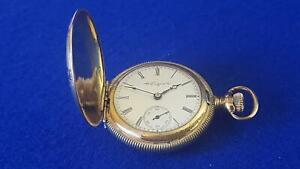 Antique 1899 Elgin Natl Watch Company GP Ornate Dress 7J Hunter Pocket Watch