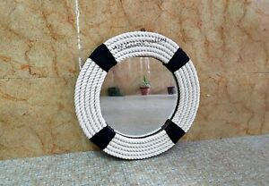 Round twisted Rope Coastal Mirror Nautical themed designer bathroom mirror