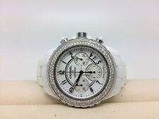 CHANEL J12 Chronograph Automatik Ceramic Weiß Diamanten Box&Blankopapiere