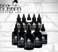 BIG SLEEPS Tattoo Ink Greywash Full Set of 5 Colors 1 oz or 2 oz Bottles USA