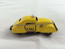 Pulgas Tin Yellow Taxi Lilliput Wind-Up W/Key