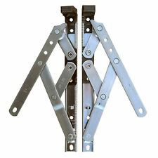 "Pair of 8 "" Inch UPVC Window Friction Hinge Top Hung 17mm Stack"