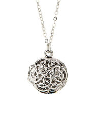 Celtic Knot Locket Necklace - 925 Silver - Celtic Locket Love Knot