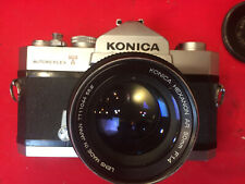 Rare KONICA Hexanon AR 50mm  f 1.4 Lens with Autoreflex -T SRL Camera and Case