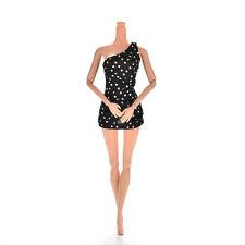 Sexy Elegance Black 12cm Single Shoulder Princess Dolls Dresses for Barbies Nice