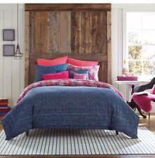 ANTHOLOGY Happy Indigo Set Of 2 EURO SHAMS Knit Brand New Free Shipping