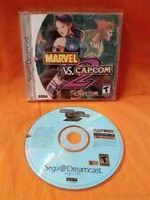 Sega Dreamcast Marvel Vs. Capcom 2 Complete w/Box & Manual GOAT Fighting