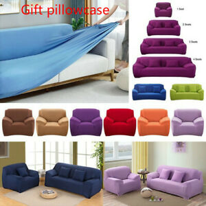 Elastic Sofa Cover Solid Stretch L Shape Armchair Couch Covers Slipcover Living