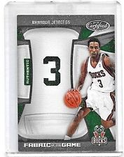 BRANDON JENNINGS '2009-10 CERTIFIED FABRIC OF THE GAME WORN JERSEY#/99 - ROOKIE