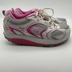 Skechers Womens Breast Cancer Shape Ups Athletic Shoes Pink Walking Low Top 10