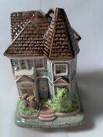 "Vintage Otagiri Music Box Plays ""It's a Small World"" Bear Cottage"