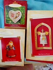 Lot 3 Hallmark Christmas Ornaments Sister to Sister The Decision Gift of Peace