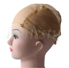 1/2PCS Wig Cap for Making Wigs with Adjustable Straps Breathable Mesh Weaving