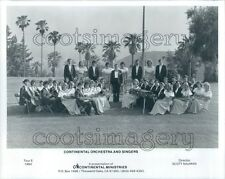 1985 Continental Orchestra & Singers Christian Ensemble of CA Press Photo