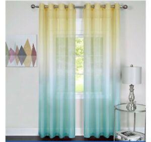 Rainbow Sheer Curtain Set. 2 panels. 52 X 84 each.