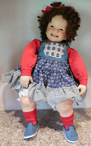 "Gorgeous 26"" Seated Chubby Toddler Girl Doll Lil Stinker By Donna Rubert"