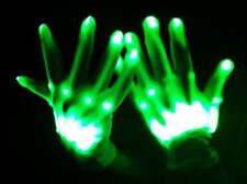 GREEN XO Magic Mitts Light Show RAVE Party Flashing GLOVES - Party Fun!
