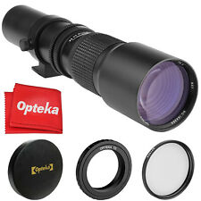 Opteka 500mm f/8 Telephoto Lens for Panasonic Lumix DMC-GX85, GH4, GX7 Mark II