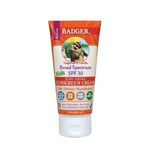 Badger Balm SPF 30 Kids Sunscreen Cream, 2.9 Ounce
