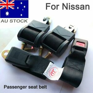 Black 2 Point Retractable Seat Lap Sash Belt Strap Safety Seatbelt For Nissan AU