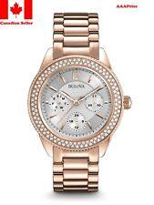 Bulova 97N101 Multi-Function Crystal Bracelet Women's Watch