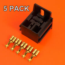 4/5 Pin Relay Base Holder With Mounting Bracket & Terminals - 5 Pack -Lucas Rist